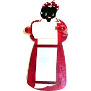 Hand Painted Wooden Mammy Wall Note Holder - Japan