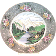 "Adams: Currier & Ives: Yosemite Valley, ""The Bridal Veil"" Fall Dinner Plate"