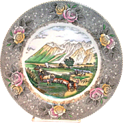 Adams: Currier & Ives: The Rocky Mountains Scenic Porcelain Dinner Plate