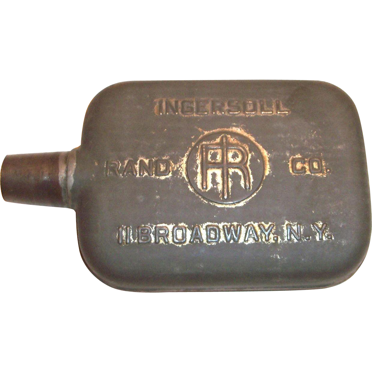 Vintage Ingersoll Rand Co. Advertising Metal or Tin Flask