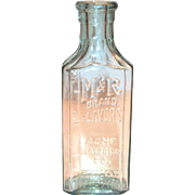 Vintage M & R Brand Flavors Glass Bottle