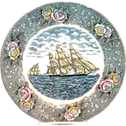 Adams: Currier & Ives: The Clipper Ship Sweepstakes Scenic Porcelain Plate