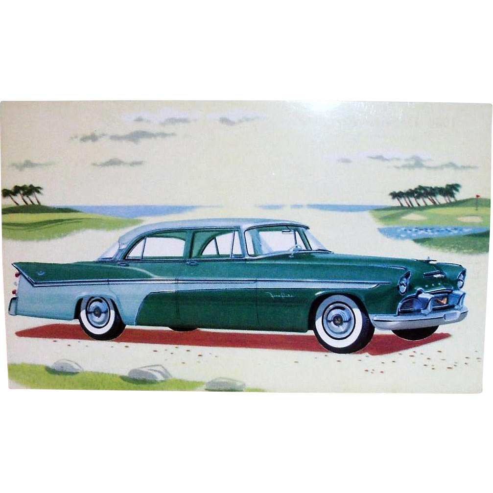 Vintage 1956 DeSoto Fireflite Sedan Advertising Postcard