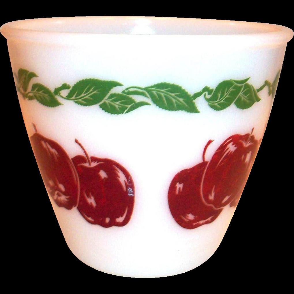 """Vintage Red Apples & Leaf Design 6""""Rd Mixing Bowl"""