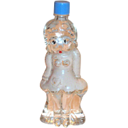 Vintage Novelty Character Betty Boop Glass Perfume Bottle