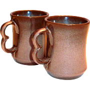 Vintage Frankoma Brown Pottery Mug