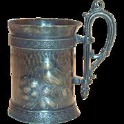 Old Inscribed Simpson, Hall, Miller Co. Quadruple Plate Mug - 1887