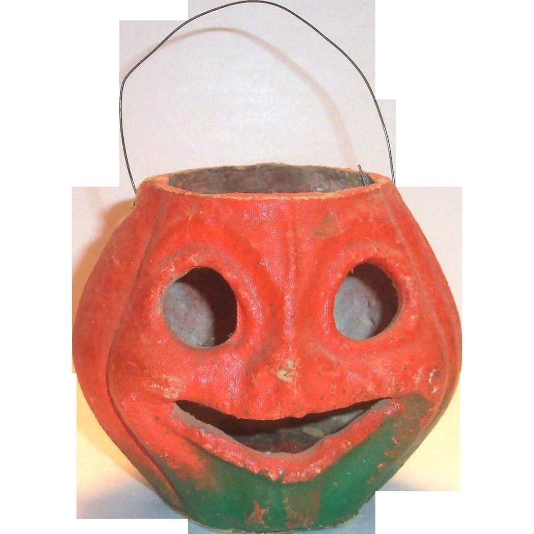 Vintage Paper Mache Jack-O-Lantern