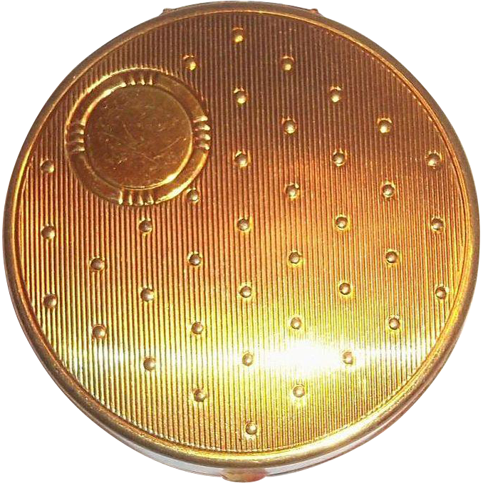 Vintage Gold Tone Rouge Compact