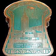 A Century Of Progress Chicago World's Fair 1933 Brass Paper Clip/Holder