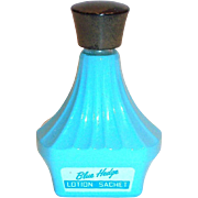 Fuller Brush Co. Blue Hedge Lotion Sachet Glass Bottle