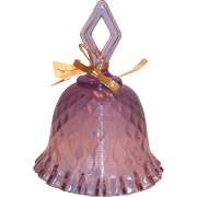 Vintage 1978 Fenton Wisteria Diamond Optic Design Glass Bell
