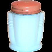 Vintage Tayton's White Glass Vanity Jar
