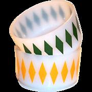 Vintage Fire King Diamond Design Glass Cereal Bowl