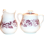 Wedgwood Old Vine of Etruria Sugar & Creamer Set