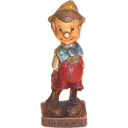 Vintage Multi Products Syroco Pinocchio Hand Painted Figurine