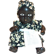 Vintage Small Black Americana Hand Painted Porcelain Mammy Doll