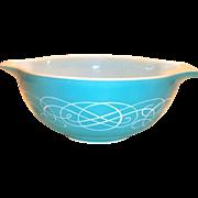 Vintage Pyrex Turquoise Horizon Blue 2 1/2 Qt Cinderella Bowl