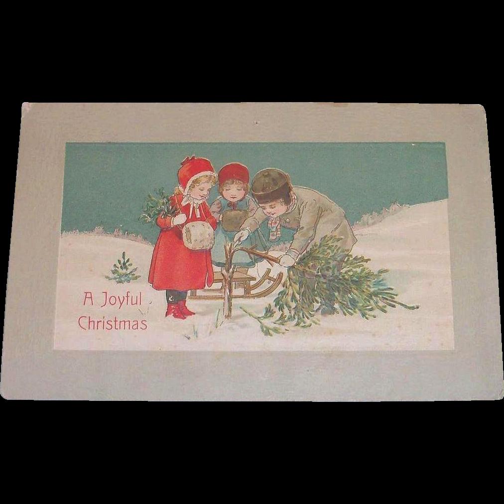 P.S. Dresden: A Joyful Christmas Postcard - 1911