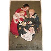 Vintage Loving Easter Greetings Postcard