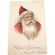 Vintage 1907 Christmas Santa Claus Postcard