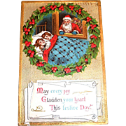May Every Joy Gladden Your Heart Christmas Postcard - 1913