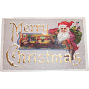 Vintage Merry Christmas, Santa Elf Postcard - 1914