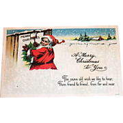 Vintage A Merry Christmas To You Santa Claus Postcard