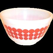Vintage Pyrex Red Polka Dot #401, 1 1/2 Pt Bowl