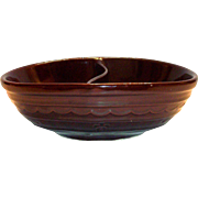 Marcrest Dot & Daisy Divided Brown Stone War Serving Bowl