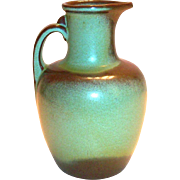 Vintage Frankoma Prairie Green Pottery Pitcher