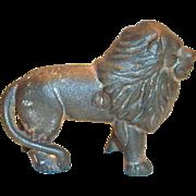Vintage Cast Iron Lion Bank