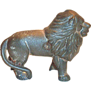 Vintage Cast Iron Lion Bank