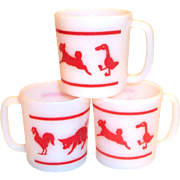 Vintage Hazel Atlas Children's Animal Mug
