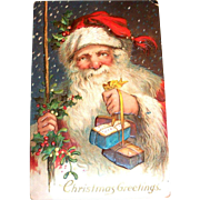 Vintage Christmas Greetings Postcard - 1915