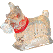 Vintage Clear Glass Scottie Dog Candy Holder/Container