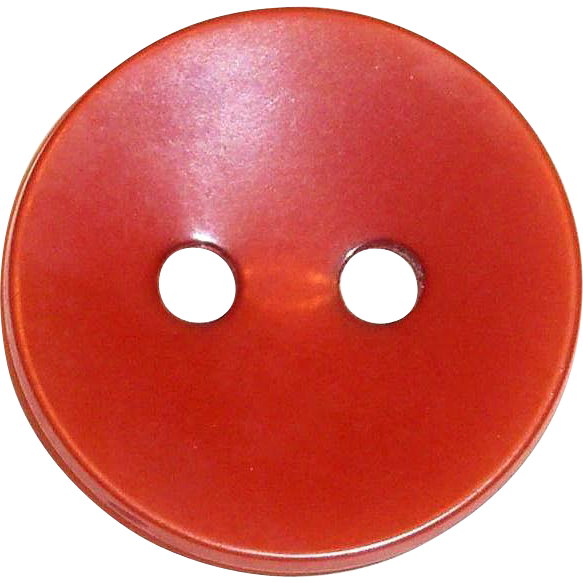 Vintage 2-Hole Rust Colored Bakelite Button