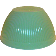 "Fire King 7 1/2""Rd Jadite Glass Ribbed Bowl"