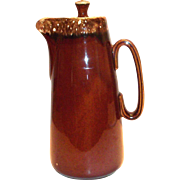 Hull Brown Drip Pottery Coffee Server