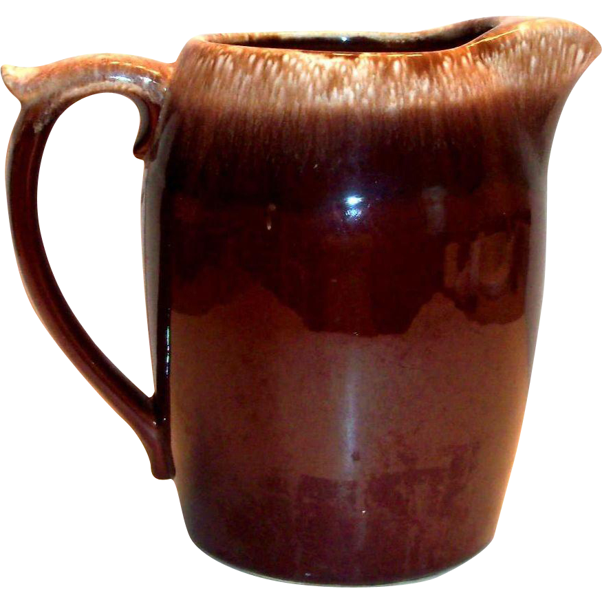 McCoy Brown Drip Pottery Pitcher