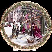 "Spode China: The Victorian Christmas Series: ""Christmas Shopping"" Plate No. 4"