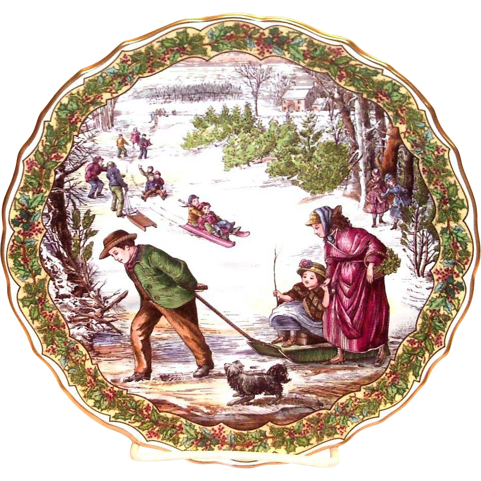 Spode China The Victorian Christmas Series Quot Sleighing