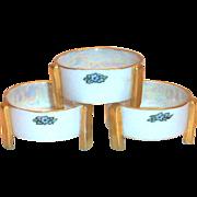 Noritake Nippon Lustreware & Floral Design Footed Salt Cellar
