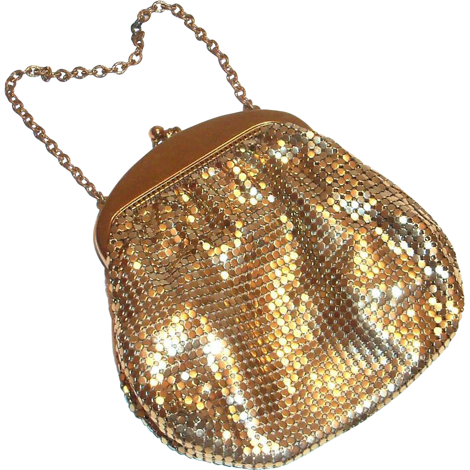 Vintage Whiting & Davis Gold Tone Mesh Purse