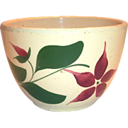 "Watts Poinsettia/Star Flower Advertising 6 1/2""Rd Pottery Bowl"