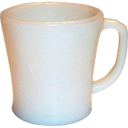 Vintage Fire King Ivory Colored D-Handle Mug