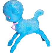 Vintage Irwin Little Blue Lamb Plastic Baby Rattle