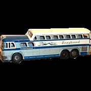 Vintage 1950's Daiya, Japan Toy Greyhound Bus