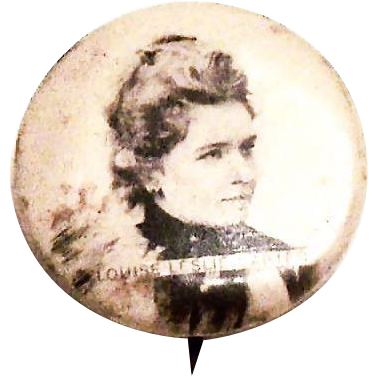 Vintage Louise Leslie Carter Portrait Pin or Mourning Pin