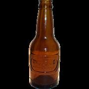 Uncle Jo Amber Glass Soda Bottle. Waco, Texas